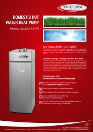 domestic hot water heat pump - Heliotherm Wärmepumpentechnik ...