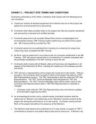 EXHIBIT C – PROJECT SITE TERMS AND CONDITIONS