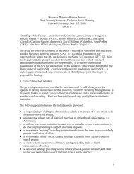 Research Metadata Harvest Project Draft Meeting Summary ...