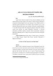 arnavutluk meselesi üzerine bir değerlendirme - Gazi Eğitim Dergisi