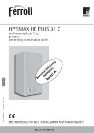 Optimax HE 31 C Manual - Ferroli