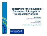 Short-term & Long-term Succession Planning - CompassPoint ...