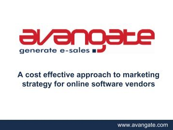 A cost effective approach to marketing strategy for online software ...