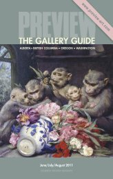 Preview – The Gallery Guide | June through August 2011