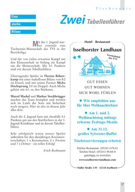 TV Inform Nr.80_1 - Turnverein Isselhorst v. 1894 eV