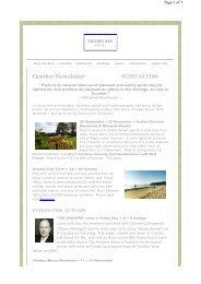 2011 October Newsletter - Priory Bay