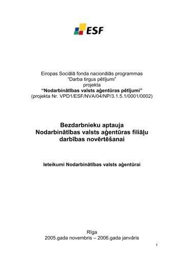 Ieteikumi Nodarbinātības valsts aģentūrai