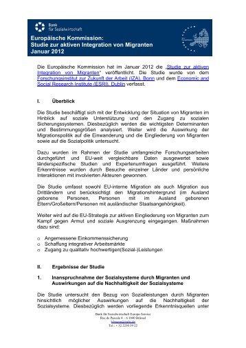 Studie zur aktiven Integration von Migranten - EUFIS: Das EU ...