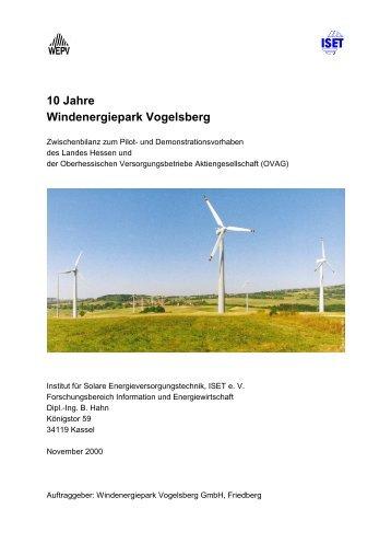 10 Jahre Windenergiepark Vogelsberg - HessenEnergie GmbH