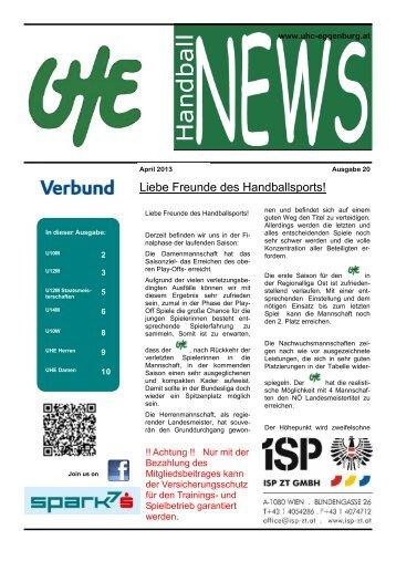 UHE Handball News #20(04/2013) - UHC Eggenburg