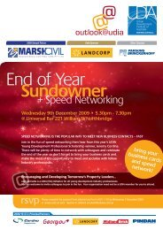 End of Year Sundowner - Urban Development Institute of Australia
