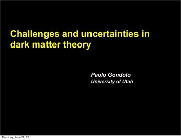 Challenges and uncertainties in dark matter theory