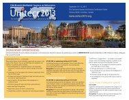 sponsorship opportunities - UNITECR 2013