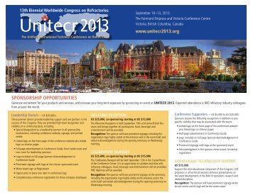 sponsorship opportunities - UNITECR 2013