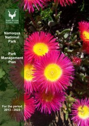 Namaqua National Park Park Management Plan - SANParks