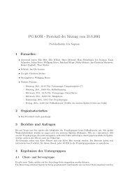 PG KOSI - Protokoll der Sitzung vom 21.6.2001