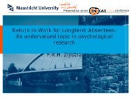 Link to the presentation of Prof Dr Zijlstra in english - Research ...