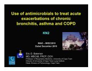 Use of antimicrobials to treat acute exacerbations of chronic ...