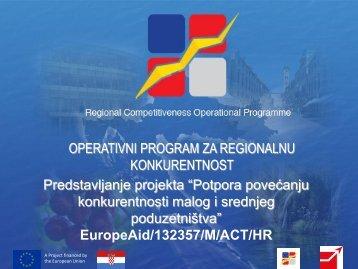 OPERATIVNI PROGRAM ZA REGIONALNU KONKURENTNOST ...