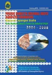 PDRB Menurut Lapangan Usaha 2004-2008 - Gunungkidul