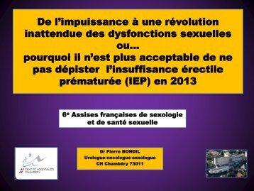 De l'impuissance aux dysfonctions sexuelles masculines, la ... - FF3S