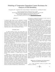 Modeling of Temperature Dependent Contact Resistance for ...
