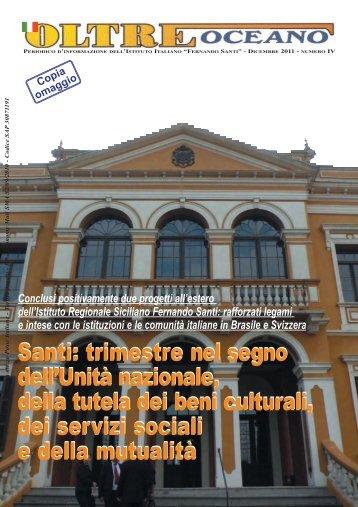 Dicembre 2011 IV Numero - Istituto Italiano Fernando Santi