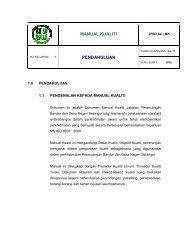 MANUAL KUALITI PENDAHULUAN - JPBD Selangor