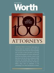 Worth Magazine Annual Top 100 Attorneys - Duane Morris LLP