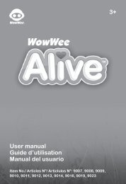 3+ User manual Guide d'utilisation Manual del usuario - WowWee