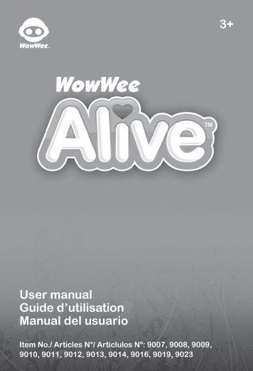 3+ User manual Guide d'utilisation Manual del usuario - WowWee