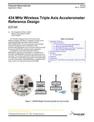 AN3162, 434 MHz Wireless Triple Axis Accelerometer Reference ...