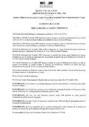 4561 portant délimitation des zones à risque d ... - Port la Nouvelle
