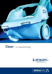 Clean is a beautiful thing - James White Pools