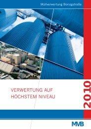 Umwelterklärung 2010 - MVB