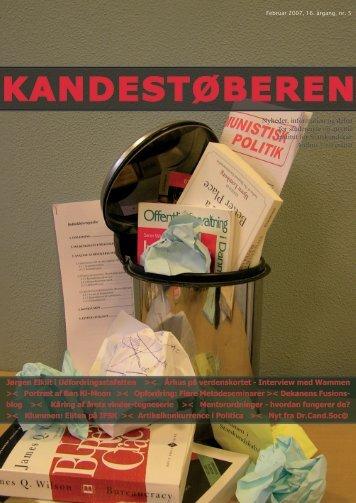 KANDESTØBEREN - Institut for Statskundskab - Aarhus Universitet