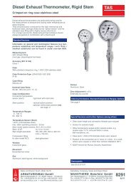 8291 - Pressure gauges and thermometers