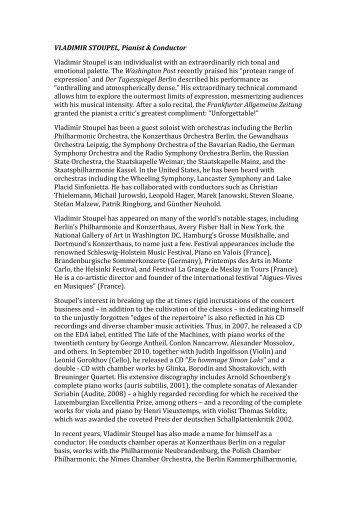 Biography Download (PDF, 8K) - Vladimir Stoupel