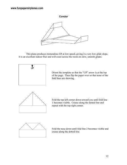 Condor sample.pdf - Fun Paper Airplanes