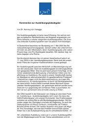Kommentar zur Ausbildungsplatzabgabe - Henning von Vieregge