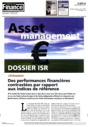 Des performances financières contrastées par rapport aux indices ...