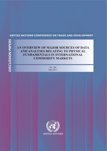 an overview of major sources of data and analyses relating to - Unctad