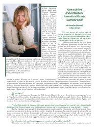 Intervista all'artista Gabriella Goffi - Comunità Piergiorgio ONLUS