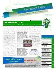 Sanctuary Institute Newsletter Winter, 2009 - The Sanctuary Model