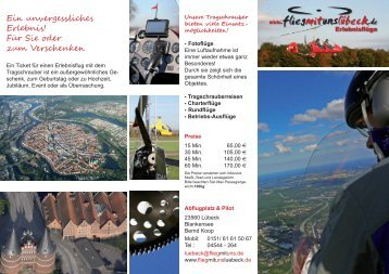 flieg mit uns Lübeck