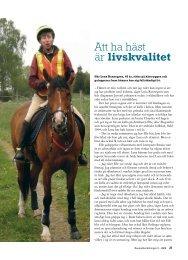 Att ha häst är livskvalitet - Välkommen till Reumatikertidningens arkiv
