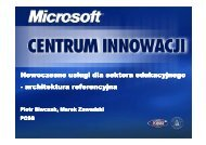 Most recent services for education - reference architecture - Centrum ...