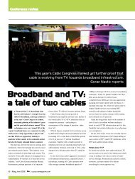 Broadband and TV: a tale of two cables - CSI Magazine
