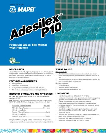 Adesilex P10 Adesilex P10 - Northland Construction Supplies