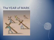 The YEAR of MARK - Archdiocese of St Andrews and Edinburgh